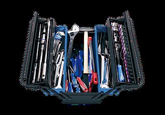 Ящик переносной с инструментом, 68 предметов темный