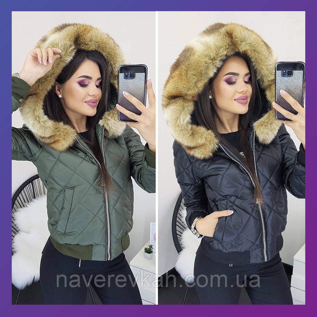 Женская куртка черная хаки S M L
