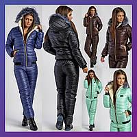 Женский лыжный костюм шоколад синий черный мята 42 44 46 48 50 52 54, фото 1