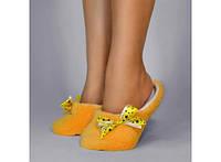 Тапочки комнатные Желтые с атласной ленточкой