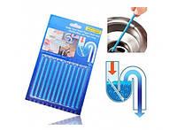 Палочки для очистки вoдocтoчныx труб, слива раковин и ванн SANI STICKS 12 шт.