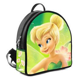 Черный городской рюкзак с принтом Фея Динь динь
