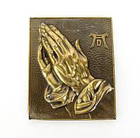"""Барельеф """"Руки молящегося"""",  Дюрер, бронза, Германия, фото 1"""