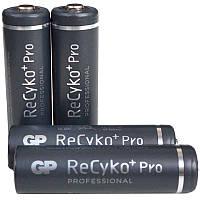 Аккумулятор никель-металлогидридный Ni-MH AA GP ReСyko+Pro, 1.2V (2000mAh), 4шт. в блистере