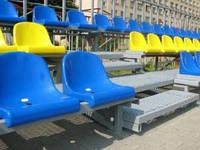 Сиденья для спортивных залов, трибун и стадионов.