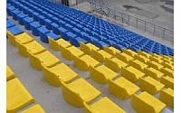 Сиденья для остановок, детских площадок, теннисных кортов.