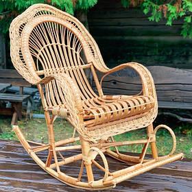 Крісло-гойдалки з лози
