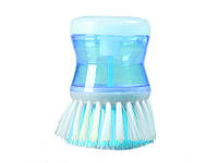 Щітка для миття посуду Radiance з дозатором  Блакитний