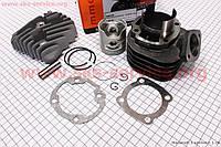 Цилиндр к-кт (цпг) Honda DIO ZX/AF34 80cc-48мм (палец 12мм) + головка цилиндра (AF35  DIO ZX; AF48 LEAD) на скутер