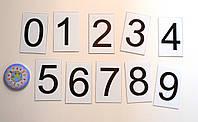 Цифры от 0 до 9. Пластиковые карточки для наборного полотна
