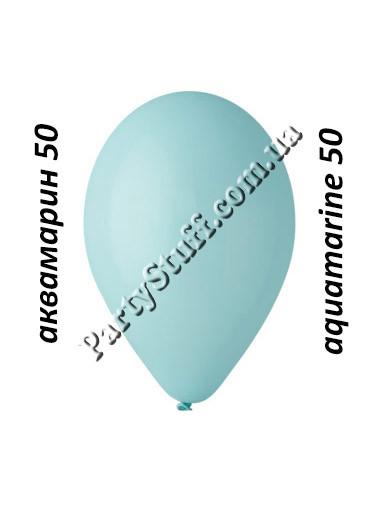 воздушные шарики gemar 12 дюймов аквамарин