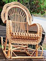 Кресло-качалка плетеное из лозы (бесплатная доставка), фото 1