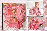 Детская брошь розовая