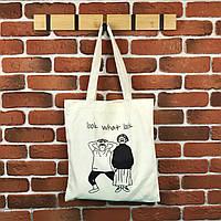 Тканевая сумка Шоппер City-A Look What Look Белая