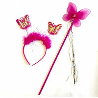 Набор бабочки Феи (малиновый)