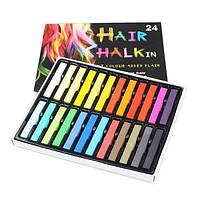 Набор мелков для волос Hair chalk 24 шт.