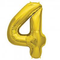 Шарик Цифра (80см) золото 4