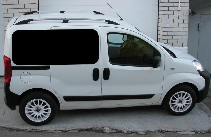 Рейлинги Fiat Fiorino/ Qubo/Peugeot Bipper/Citroen Nemo 08- /Хром /Abs