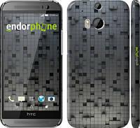 "Чехол на HTC One M8 dual sim Кубики ""1061c-55"""