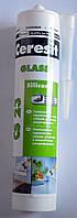 Силиконовый герметик  для стекла CS 23 Silicone Glass Ceresit  280 мл