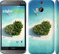 """Чехол на HTC One M8 dual sim Остров-сердце """"707c-55"""""""