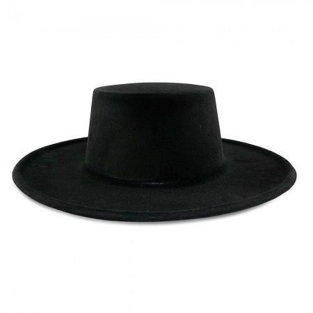 Шляпа детская Зорро флок (черная)