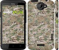 "Чехол на HTC One X Камуфляж v5 ""1201c-42"""