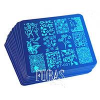 Пластины для стемпинга в ассортименте (синие)