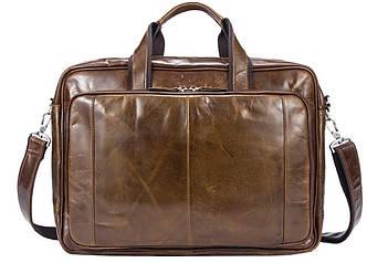 Мужская кожаная сумка Vintage 14769 Коричневая, Коричневый