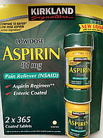 Аспирин Kirkland Aspirin Low dose 81 mg, 730шт
