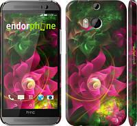 """Чехол на HTC One M8 dual sim Абстрактные цветы 2 """"818c-55"""""""