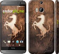 "Чехол на HTC One M8 Логотип Феррари на коже ""133c-30"""