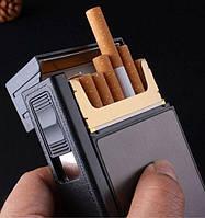 Кейс для пачки сигарет с зажигалкой Подарок для мужчин Портсигар Фокус