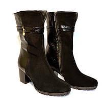 """Ботинки женские демисезонные на устойчивом каблуке в классическом стиле.ТМ """"Maestro"""", фото 1"""