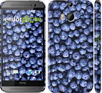 "Чехол на HTC One M8 dual sim Черника ""851c-55"""