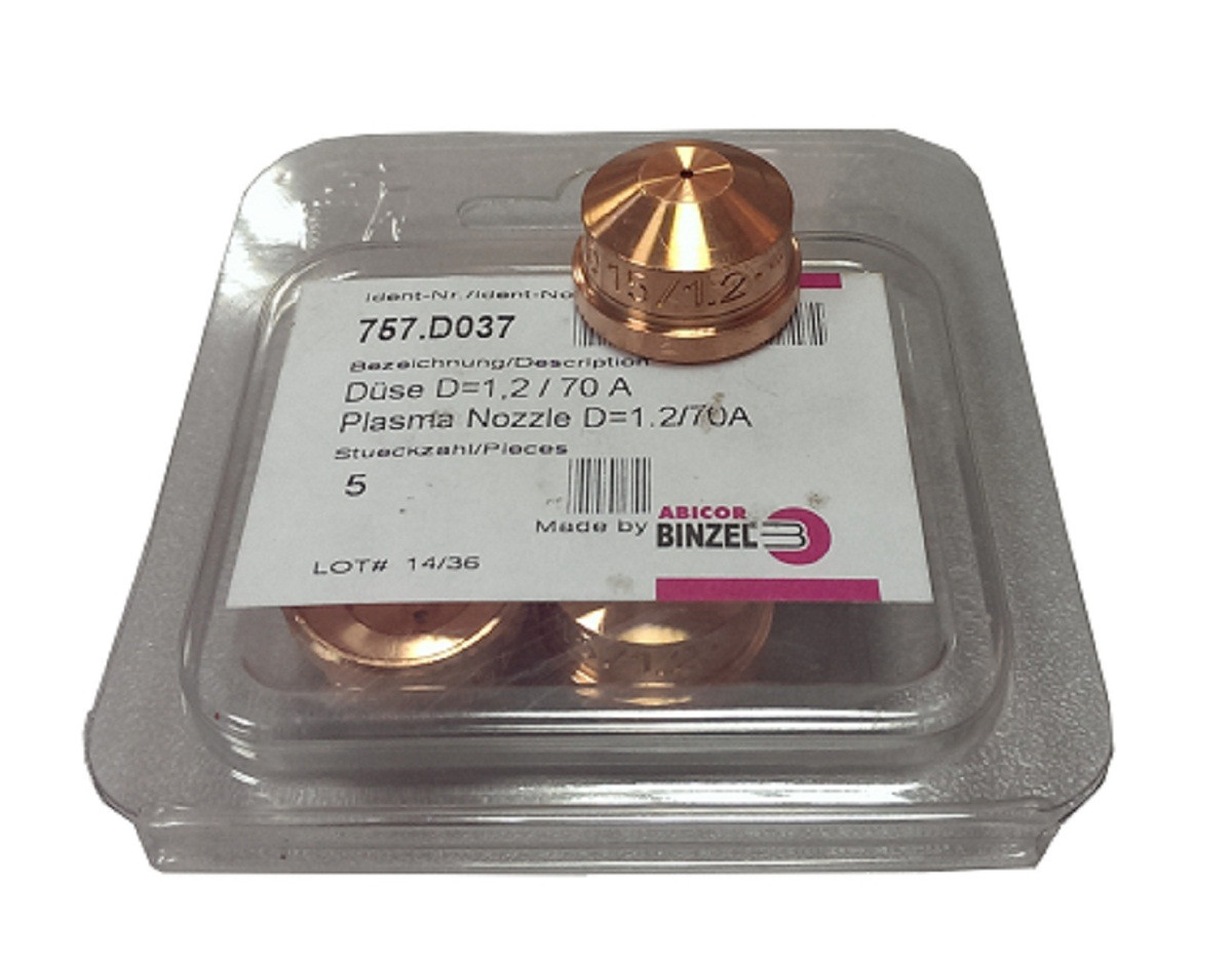 Сопло плазменное D 1.2mm ABIPLUS CUT 150 757.D037