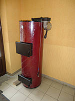Бытовой твердотопливный котел длительного горения PlusTerm 32 кВт, котлы ПлюсТерм.