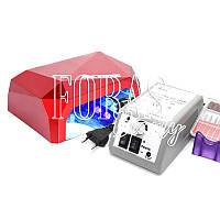 Набор лампа Diamond 36W + фрезер Lina Mercedes (YFZ-01) 20 000 об/мин