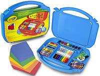 Набор для творчества в удобном чемоданчике Crayola (синий) (04-2704)