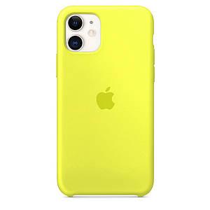 Чехол накладка xCase для iPhone 11 Silicone Case лимонный