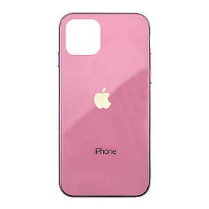 Чехол накладка xCase на iPhone 11 Glass Case Logo Metallic pink