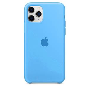 Чехол накладка xCase для iPhone 11 Pro Silicone Case голубой