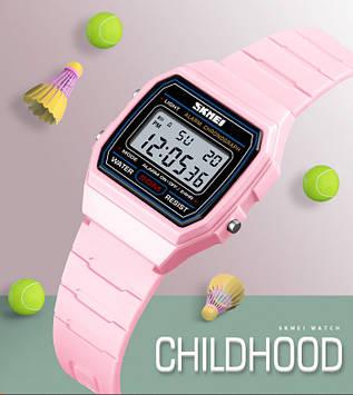 SKMEI 1460 розовые спортивные детские часы