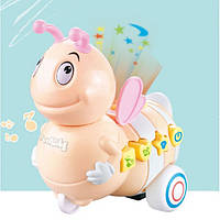 Игрушка Электронная Музыкальная Лед лампа Пчелка D Jin Shang Lu бежевая