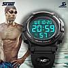 Skmei 1258 черные мужские часы, фото 5
