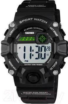 Skmei 1484 черные спортивные детские часы