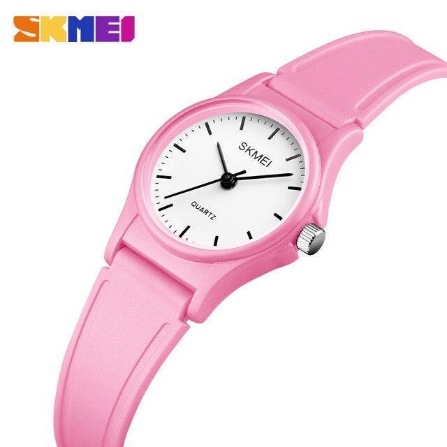 Кварцевые детские часы SKMEI 1401 светло розовые