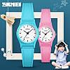 Кварцевые детские часы SKMEI 1401 светло розовые, фото 5