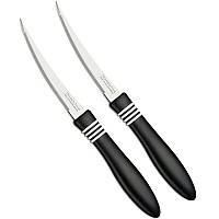 Нож для томатов Tramontina Cor Cor, 102 мм, чёрная ручка, 2 шт.