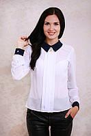 Шифоновая женская блуза с воротником в расцветках